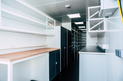 Workplace and storage space