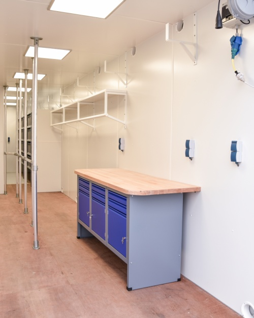 Combined workshop and storage space